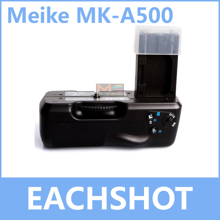 MeiKe MK-A200, BP-A500 Battery Grip for Sony Alpha A500 A550 Vertical Grip for DSLR Cameras new meike mk d5500 vertical muti power camera battery grip for nikon d5500 dslr en el14 free shipping