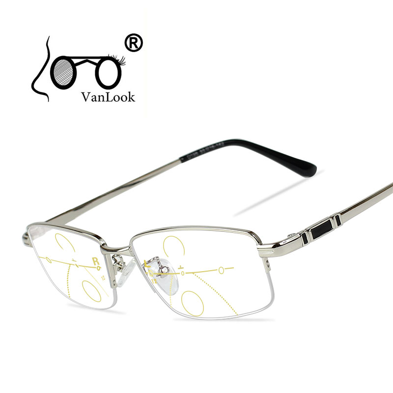 Image 2 - Multifocal Progressive Reading Glasses Men For Computer Sight Clear Adjustable Eyeglasses Women Bifocal +1.0 1.5 2.0 2.5 3 3.5 4-in Women's Reading Glasses from Apparel Accessories on AliExpress