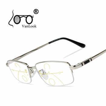 Multifocal Progressive Reading Glasses Men For Computer Sight Clear Adjustable Eyeglasses Women Bifocal +1.0 1.5 2.0 2.5 3 3.5 4