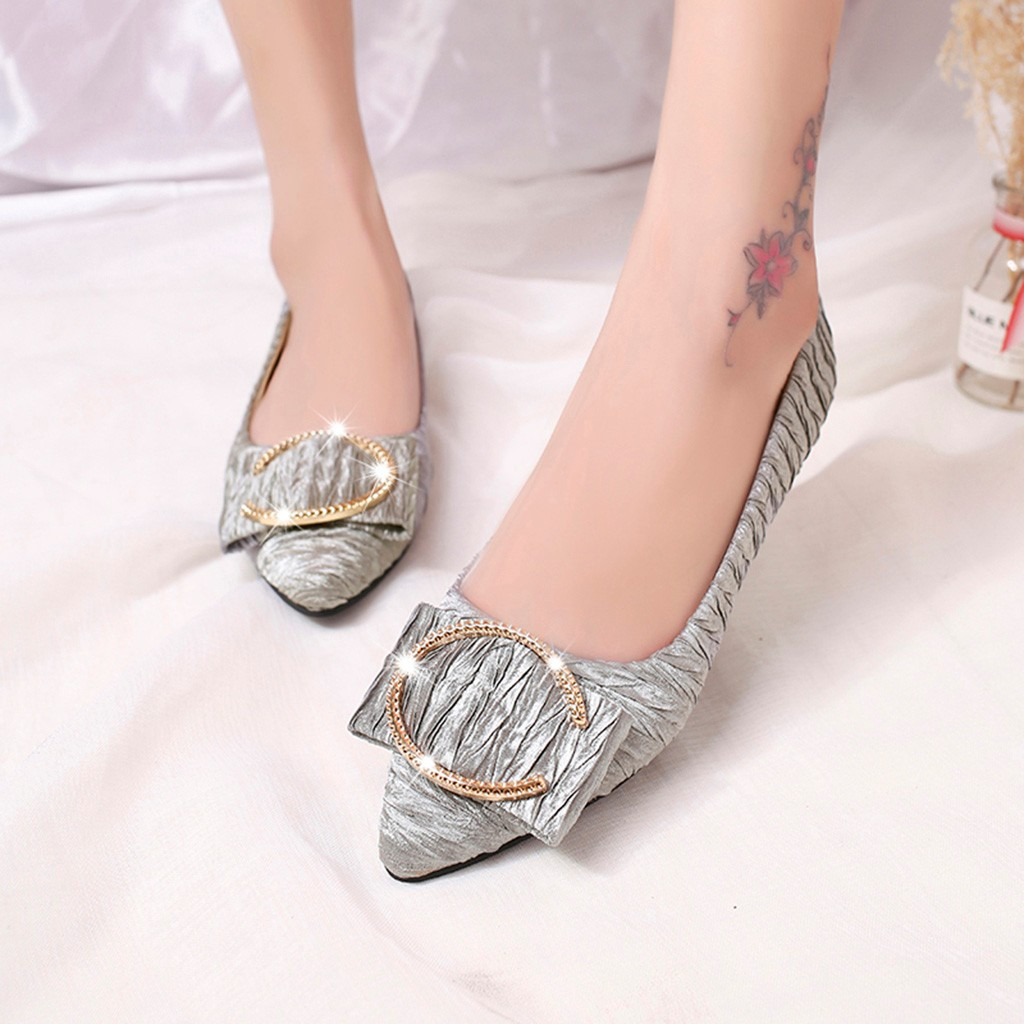100% QualitäT Youyedian Frauen Wohnungen 2019 Mode Metall Flach Frauen Boot Schuhe Spitz Frau Flache Schuhe Frauen Casual Schuhe Neueste Technik