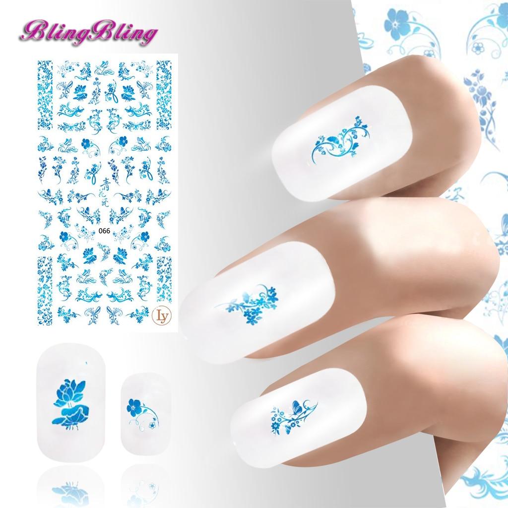 2 STÜCKE Ultradünne Kleber nagel kunst aufkleber abziehbilder 3D ...