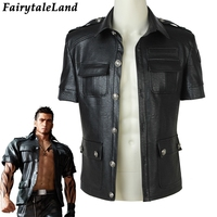 Gladiolus Amicitia Jacket Halloween costumes FF15 Cosplay Final Fantasy XV Gladiolus Amicitia Cosplay Black Leather jacket