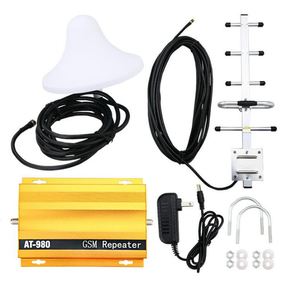 KKMOON Professional AT980 Mobile Phone Signal Booster Cell Phone 2G GSM900MHz Signal Repeater for Home Amplifier Complete Set Instrument Parts & Accessories    - title=