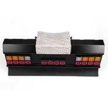 DIY modifiye araba LED kare arka sinyal ışığı seti ile arka tampon Tamiya tüm 1/14 adam Scania R620 R470 RC araba parçaları