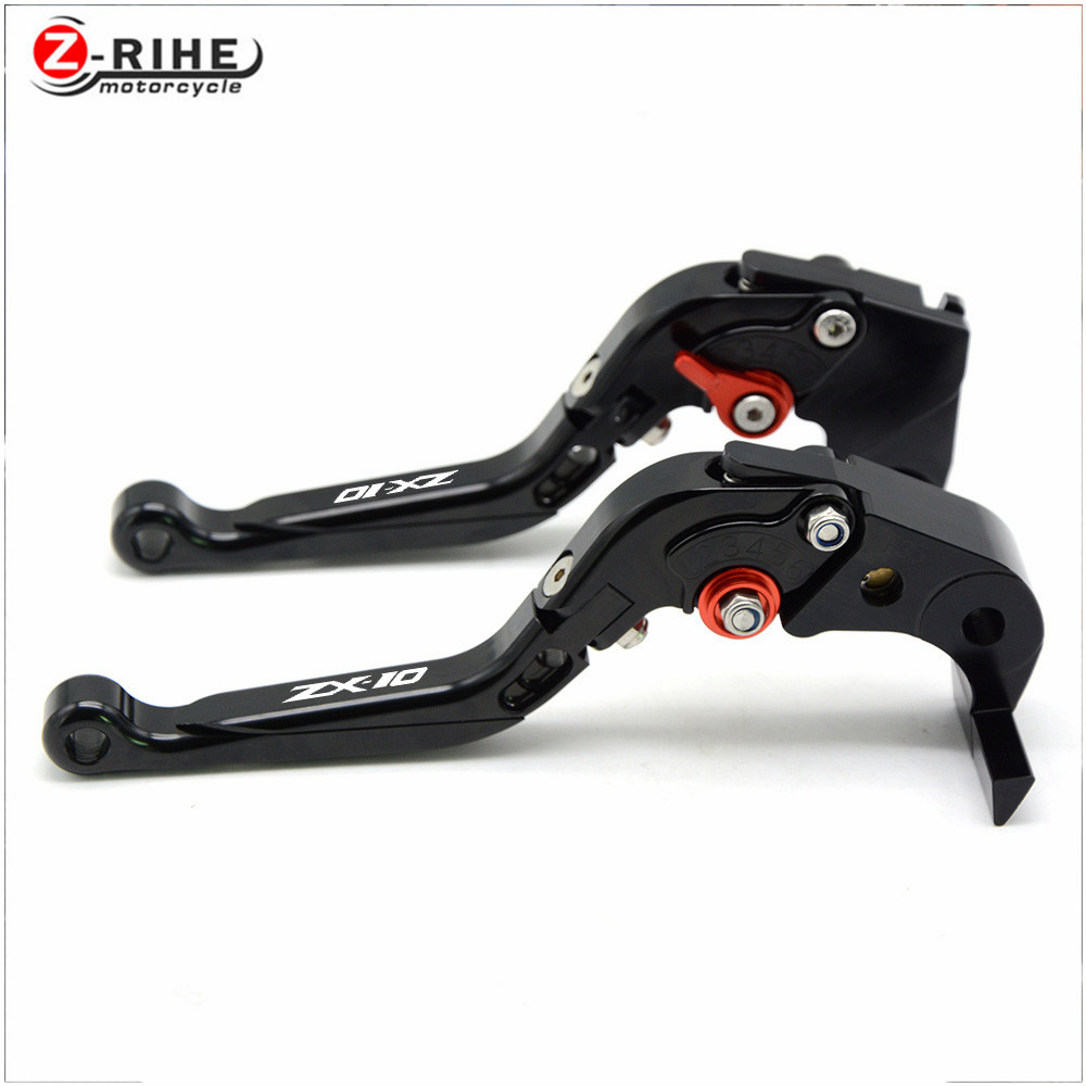 Motorcycle Adjustable Brake Clutch Lever Levers for Kawasaki NINJA 250R 300 ER6n 650 650R 1000 ZX6 ZX7 ZX9 ZX10 ZX12 ZX14 z800 for kawasaki ninja 250 ninja250 2008 2015 ninja 300 ninja300 2013 2015 motorcycle aluminum short brake clutch levers black