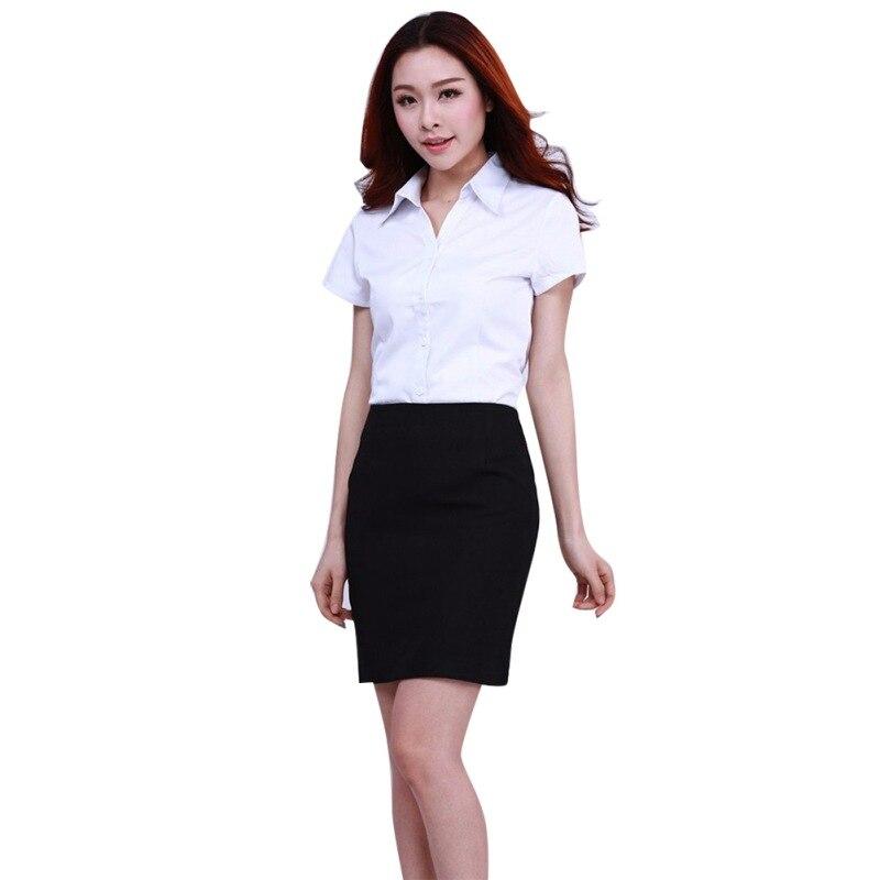 Fashion White Shirt Women Clothing Work Wear Long Sleeve Tops Slim Womens Blouses Shirts