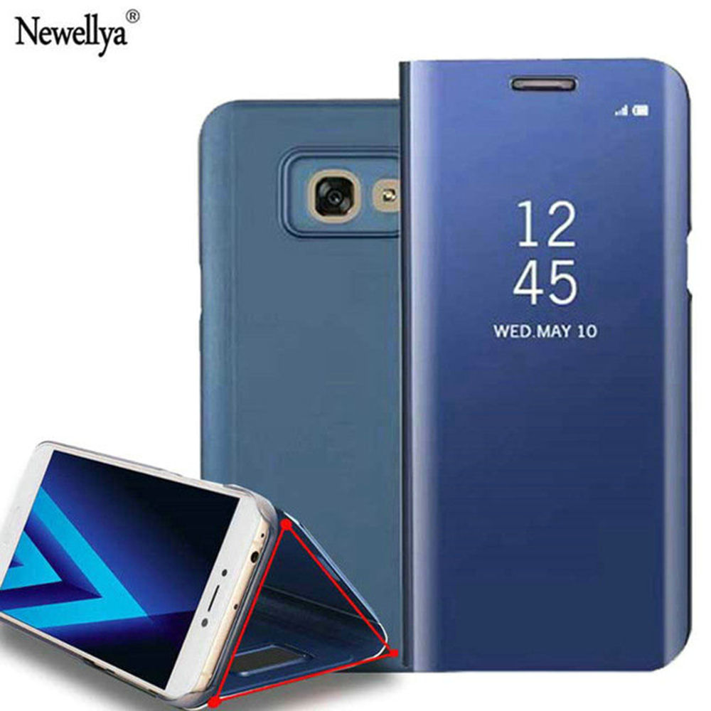 Genuine Cases For 2017 Galaxy A5 Smart View Leather Wallet Cover Phone Bags Case A3 A5