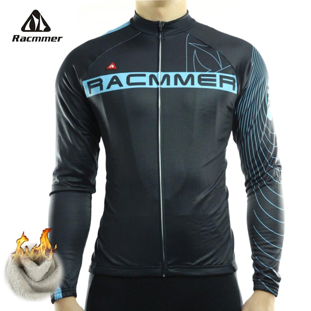 Racmmer 2017 ciclismo jersey largo invierno bicicleta de polar ropa roupa de cic