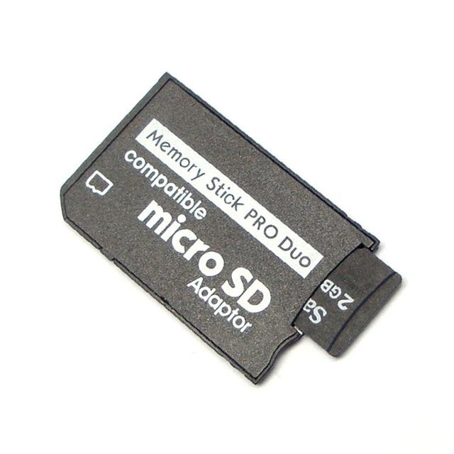 Prise en charge de l'adaptateur de carte mémoire Micro SD à l'adaptateur de bâton de mémoire pour PSP Micro SD 1 mo-128 go adaptateur Pro Duo convertir