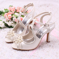 Super Quality Perfect Marlin Wedding Shoes Sandals Dyeable Roman Style With Pearls