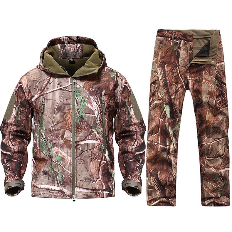 tacvasen новый для мужчин тактический военная форма униформа костюмы водонепроницаемый армейская униформа тактический брюки для девочек для мужчин камуфляж охота одежда
