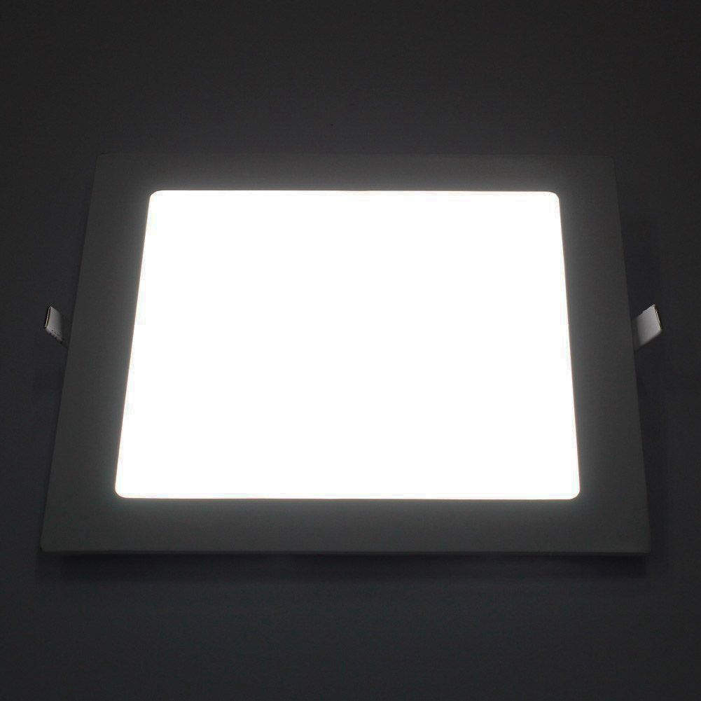 18W LED Square Recessed Ceiling Panel Down Light Ultra-slim Down Lamp large illumination area ul panel light 4 x1 1200x300mm hanging recessed wall surface mounting no gare soft flat light