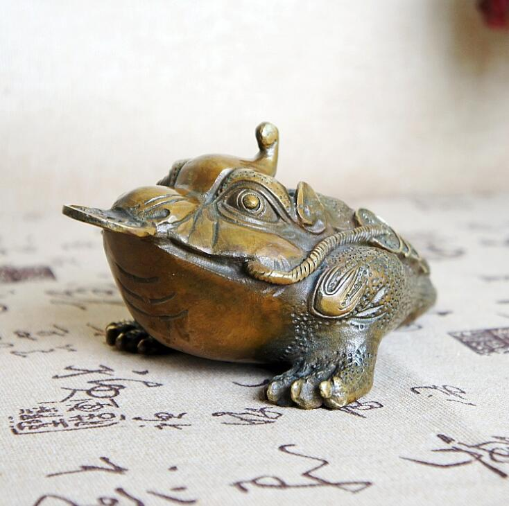 Size L Pure copper Chinese Golden Frog Feng Shui Toad Money LUCKY Fortune Wealth Coin Home Office Decor Table Ornament Lucky SM4Size L Pure copper Chinese Golden Frog Feng Shui Toad Money LUCKY Fortune Wealth Coin Home Office Decor Table Ornament Lucky SM4