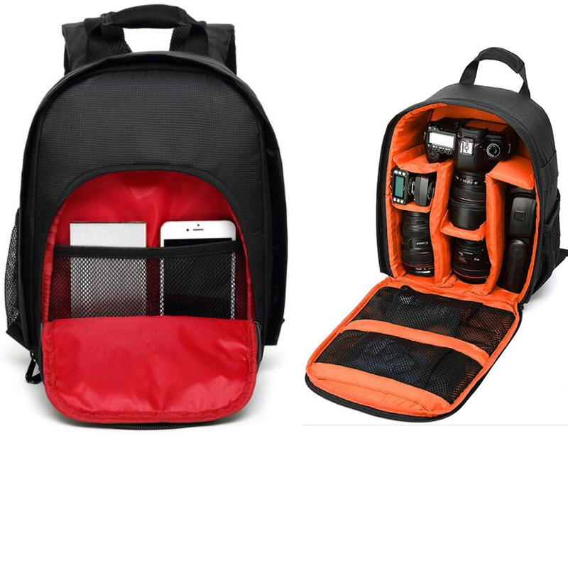 Multi-functional Digital DSLR Camera Video Bag Coloful Waterproof Small DSLR Nikon Canon Camera Backpack for Photographer