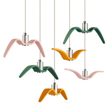 Nordic Concise Led Colorful Seagull Bird Chandelier Restaurant Living Room Bedroom  Bar Window LED