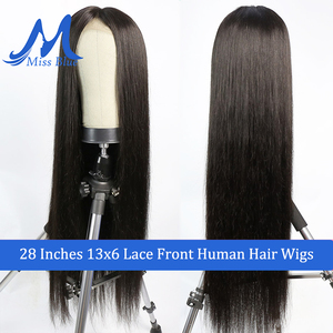 Image 4 - Missblue 30 32 34 36 38 40 inch Lace Front Human Hair Wigs For Black Women Brazilian Remy 360 Lace Frontal Wig With Baby Hair