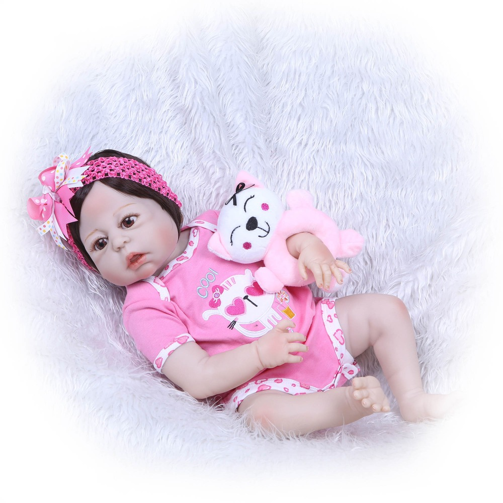 NPKCOLLECTION Full Body SIlicone Girl Reborn Babies Doll Bath Toy Lifelike Newborn Princess Baby Doll For Kid Bebe Reborn Menina