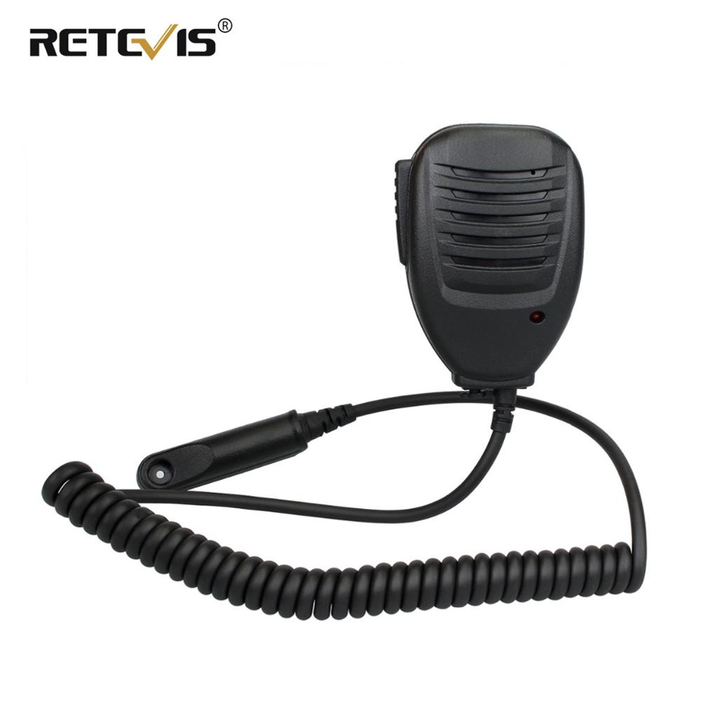 High Impact Plastic PTT Speaker Microphone LED Indicator With 3.5mm Mono Jack Design For Retevis RT6 Walkie Talkie J9114M