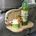 2016 New Universal Auto cadeira dobrável jantar mesa de refeições bêbado bandeja garrafa copa de armazenamento suporte para trilha veículo acessórios do carro