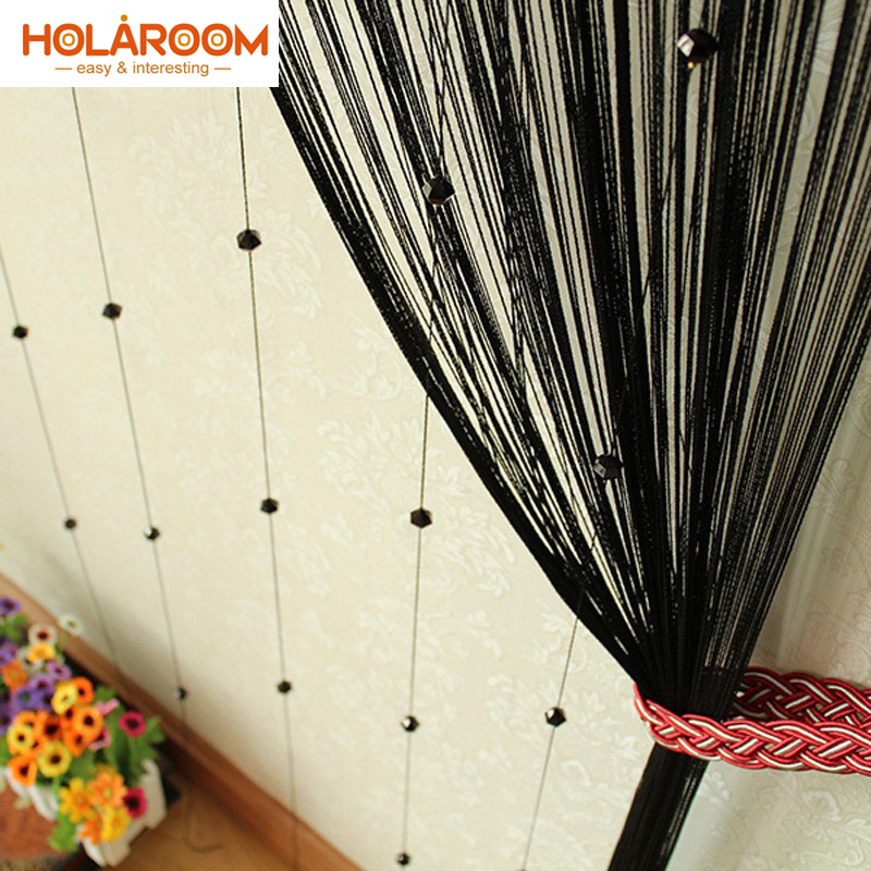 6 Color Acrylic Line Tassels Curtain Fly Insect Divider Curtains For Living Room Window Kitchen String Beads Decor Cortinas