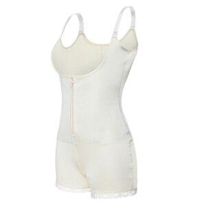 Image 4 - Women Body Shaper Seamless Tummy Control Full Shapewear Open Zipper Bust Slimmer Belly Bodysuit Slim Waist Trainer Corset Girdle