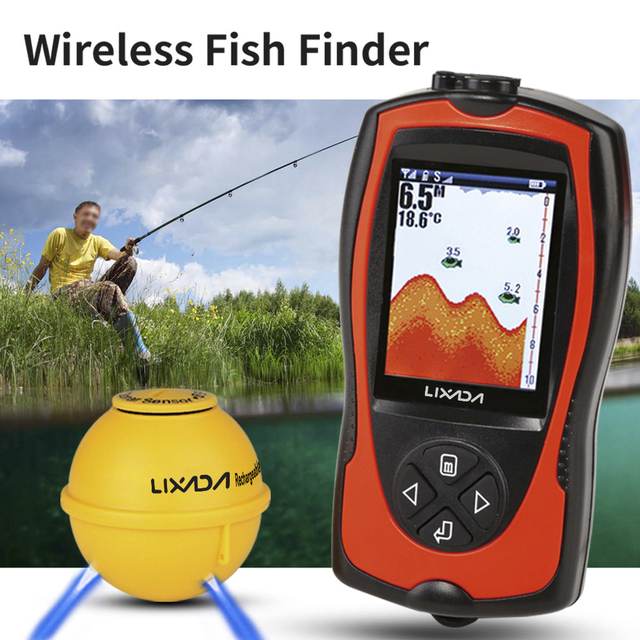 Fish Finder With LCD Wireless Sonar Transducer