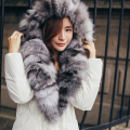 with the Vatican 2016 new winter coat real fur collar 90% white duck down in the long slim down jacket dress thickening