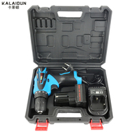 25V Electric Drill Mobile Power Tools Electric Screwdrive Lithium Battery Cordless Impact Drill With Extra Toolbox