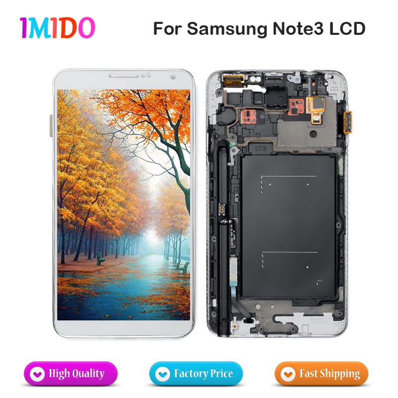 3PCS DHL Shipping <font><b>LCD</b></font> Display For Samsung Galaxy Note3 N900 <font><b>N9000</b></font> N9005 N900A <font><b>LCD</b></font> Touch Screen Digitizer Assembly Replacement image