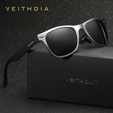 VEITHDIA Aluminum Magnesium Retro Polarized Sunglasses Unisex Square Mirror vintage Sun Glasses for Men Women Oculos de sol 2140