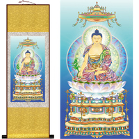 Южной медицины гуру Будда махаяны Шелк висит картина/декоративная живопись выделите живопись оптовая