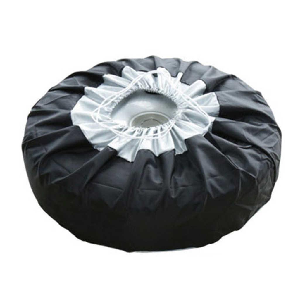 4 piezas cubiertas de neumáticos de repuesto para automóviles a prueba de polvo y a prueba de lluvia cubiertas de neumáticos para accesorios de automóviles de neumáticos de 65 cm