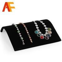 Wholesale 2pcs Lot Black Jewelry The Necklace Display Show Case Organizer Tray Box Organizer Tray