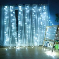 Copper Wire Curtain Led String Lights 8 Modes 300LED Remote-control USB Waterproof 3x3m Light Guirlande Lumineuse Exterieur
