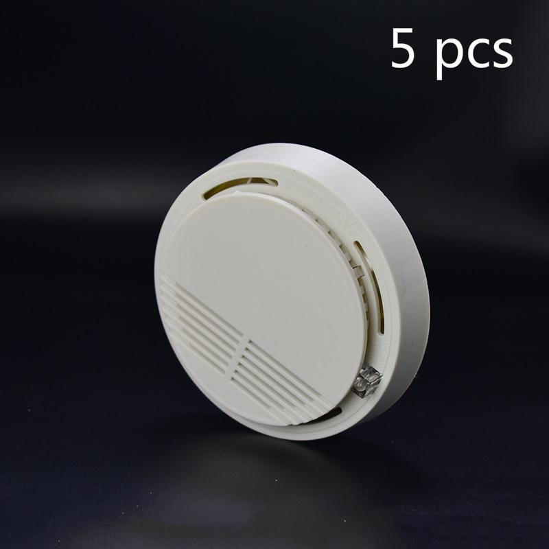 5Pcs Sensor Sensitive Photoelectric Home Independent alarm Fire Protection Smoke Detector Fire Alarm Sensor For Family Guard engineering hotel fire alarm police bell fire fire bell 220v 4 inch suit