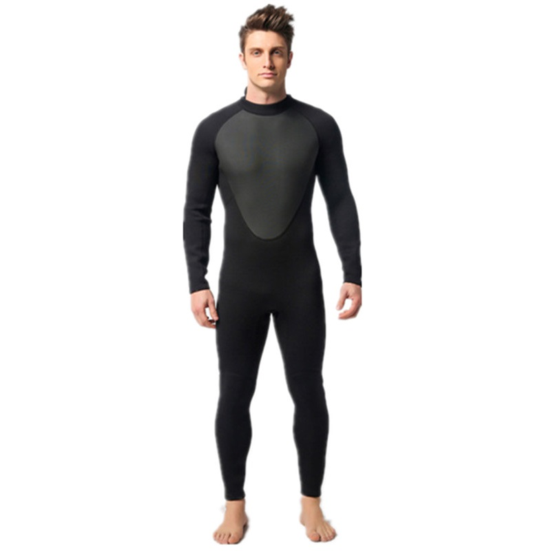 Black 3mm Neoprene Scuba Dive Wetsuit For Men Spearfishing Wet Suit Surf Diving Equipment Long Sleeve Jumpsuit spearfishing wetsuit 3mm neoprene scuba diving suit snorkeling suit triathlon waterproof keep warm anti uv fishing surf wetsuits