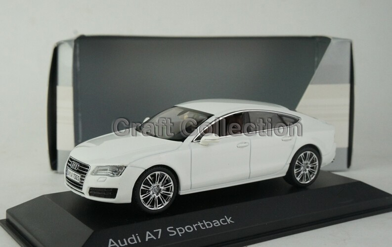Free Shipping! White 1:43 Car Model  Audi A7 Sportback Sedan Diecast Model Car Classic Toys Car Replica Luxury Collection