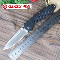 58 60HRC Ganzo G738 440C Blade G10 Handle Edc Folding Knife Survival Camping Tool Hunting Pocket