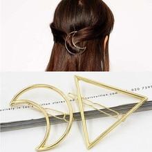 2017 New Hairpins Triangle Moon font b Hair b font Pin Jewelry Lip Round font b