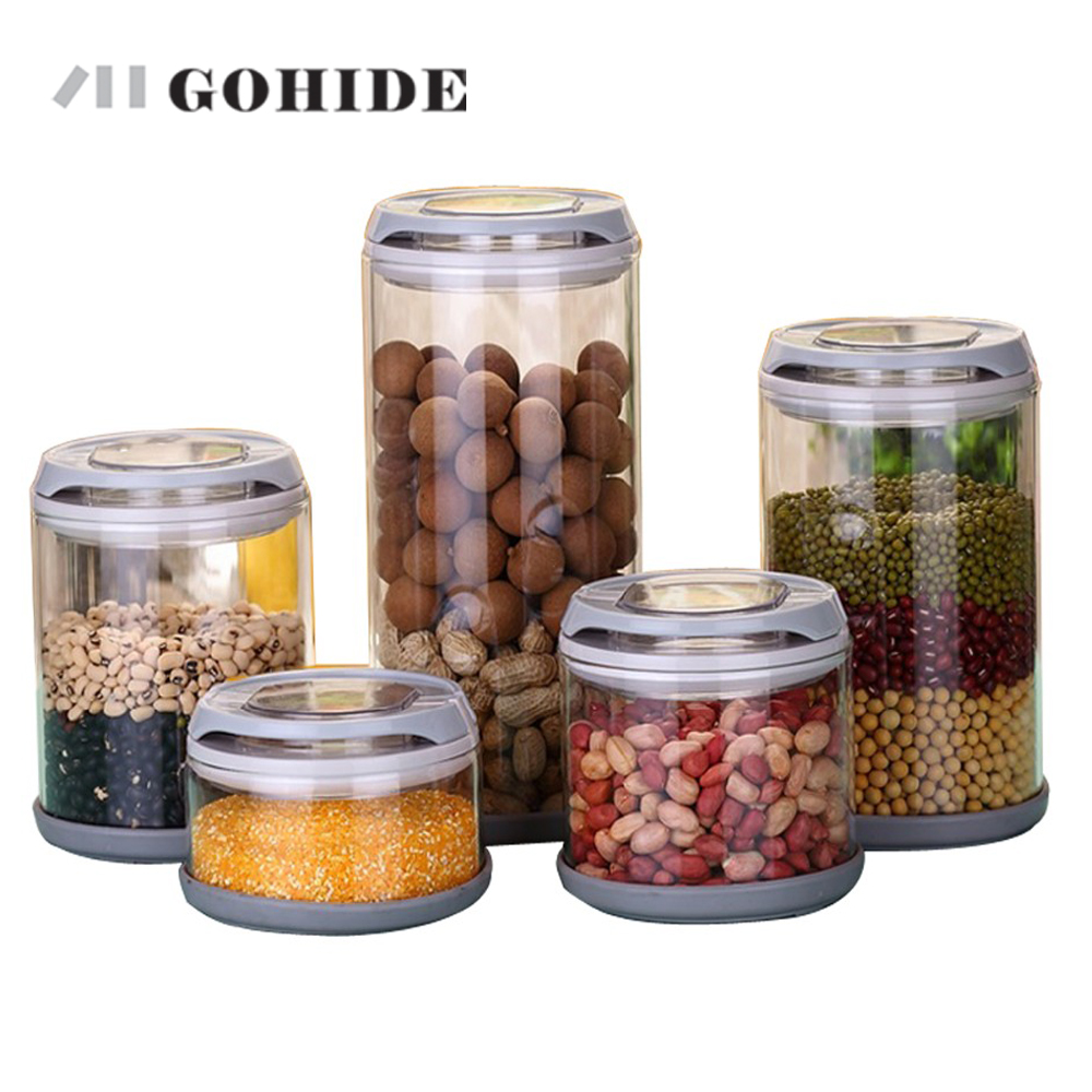 GUH Super quality Glass storage jar storage bottle candy food milk cans coffee canister 250ml -1700ml in 5pcs combination jar