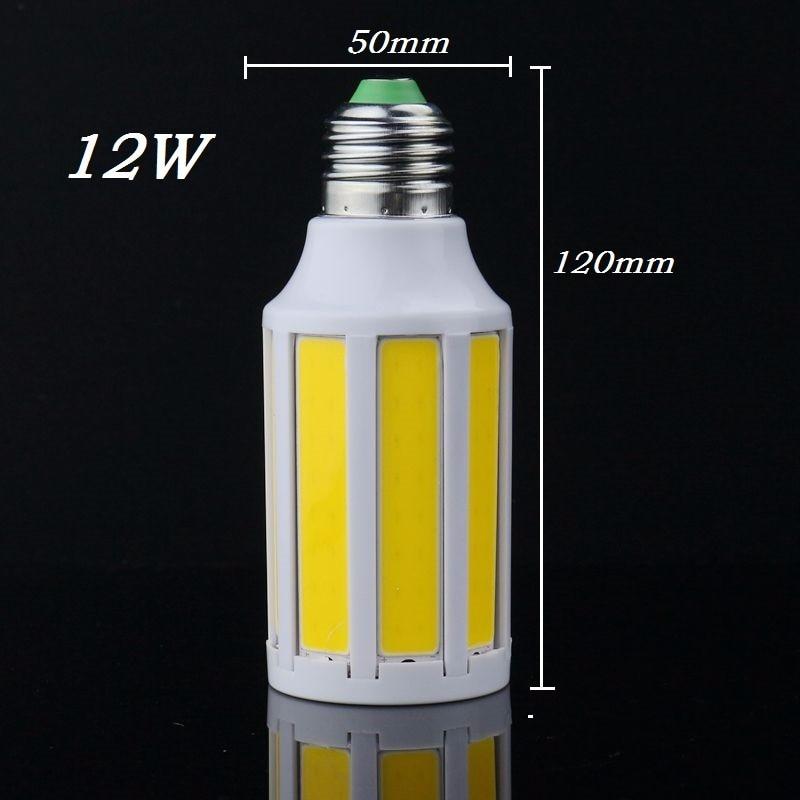 Super Bright E27 E14 B22 LED COB Corn Light Bulb Warm White Cold white lamp 12W 110V 220V Spotlight Indoor high quality Lighting e27 e14 g9 gu10 b22 7w 2880lm 144 smd2835 led corn bulb warm white 220v home lamp