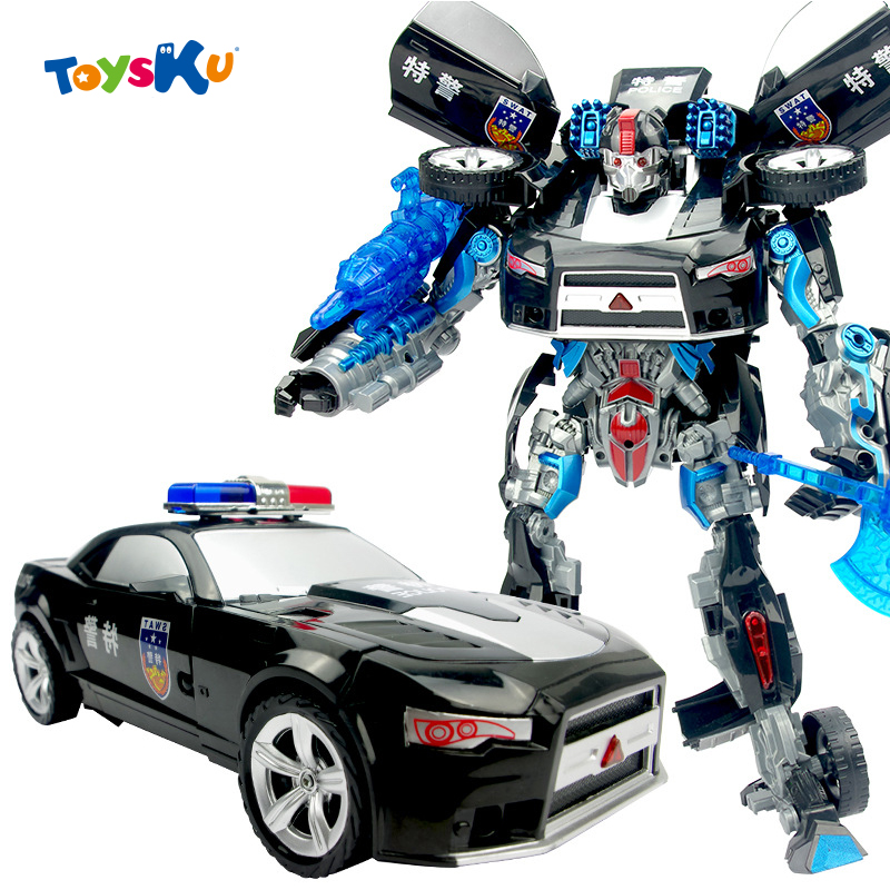 ФОТО Transform Robot Toys Police Car Assembly Toys with Sounds ans Light Exquisite Toys for Children Boys