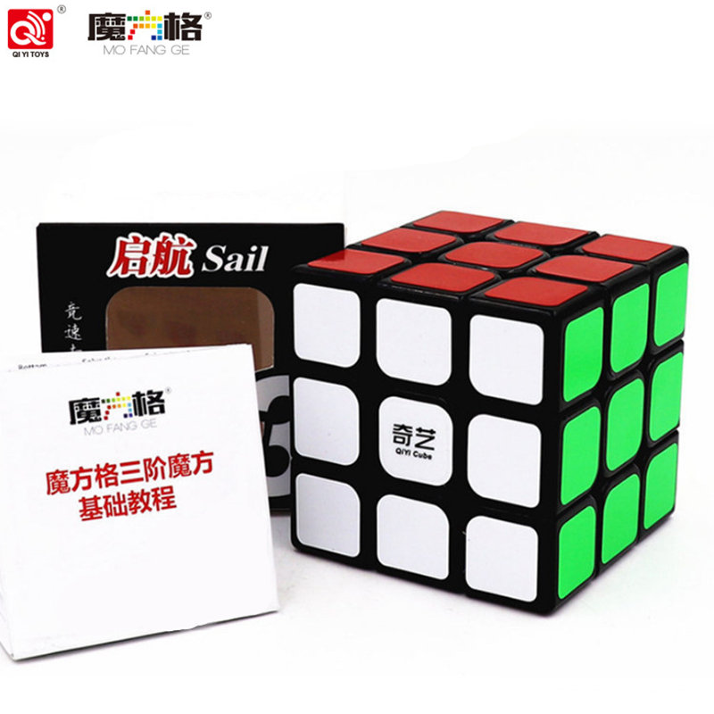 все цены на QIYI Cube Professional 3x3x3 Magic Cubes 5.7CM Sticker Speed Twist Puzzle Fidget Cube Neo Cubo Magico Sticker Children Toy gift