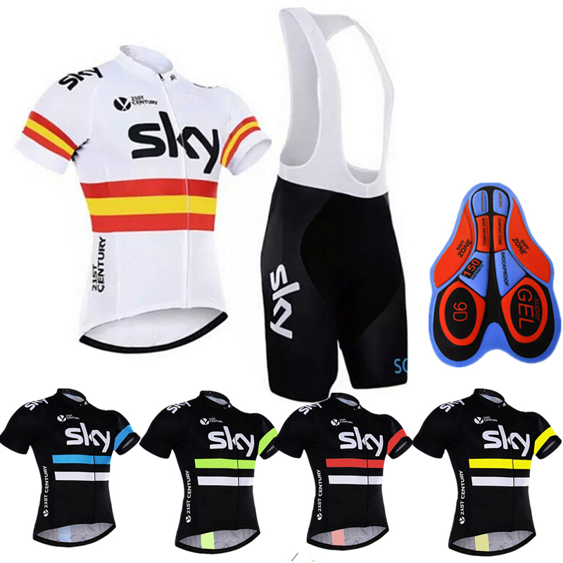 Pro Team SKY Cycling Jersey Ropa Ciclismo Breathable Bicicleta Cycling Clothing Maillot Ciclismo Mtb Bicycle Clothing 2018 tier coolmax sportful mtb ciclismo pro team cycling ciclismo ciclismo sock 885