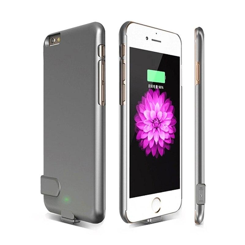 imágenes para 1500 mah banco de potencia ultra delgado caso para apple iphone 6 6 s 4.7 cubierta del caso del cargador de batería de reserva externa