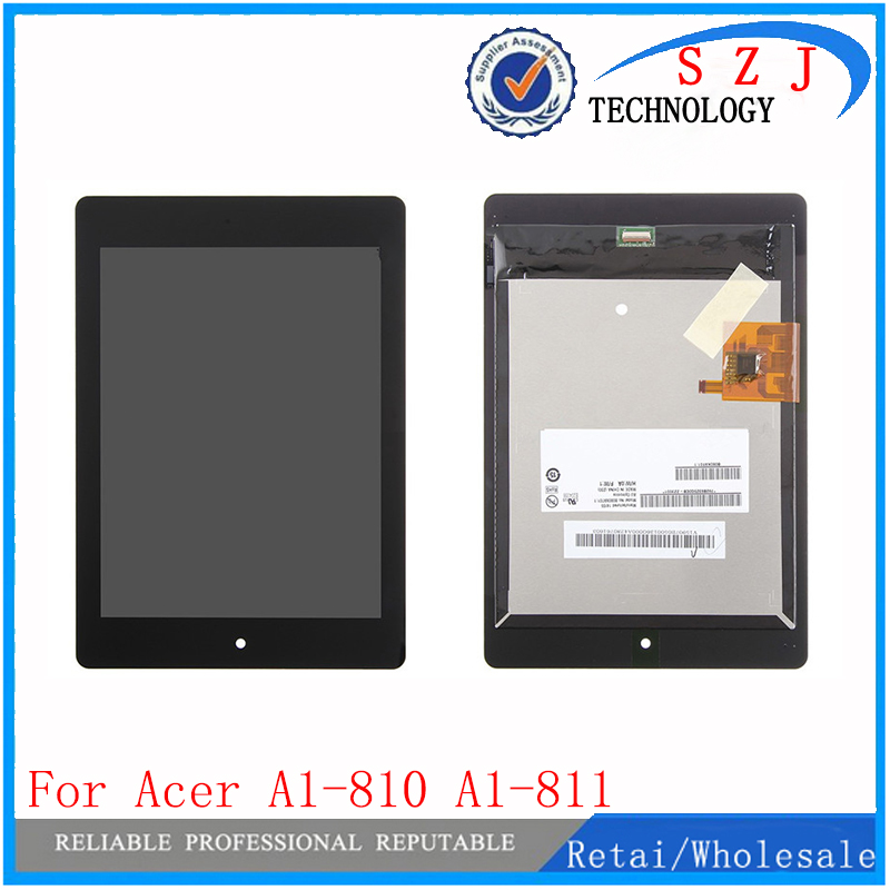 New 7.9'' inch LCD Display Touch Screen Assembly Replacement For Acer iconia Tab A1-810 A1 810 A1-811 A1 811 Free Shipping for new lcd display touch screen digitizer with frame assembly replacement acer a1 820 8 inch black free shipping