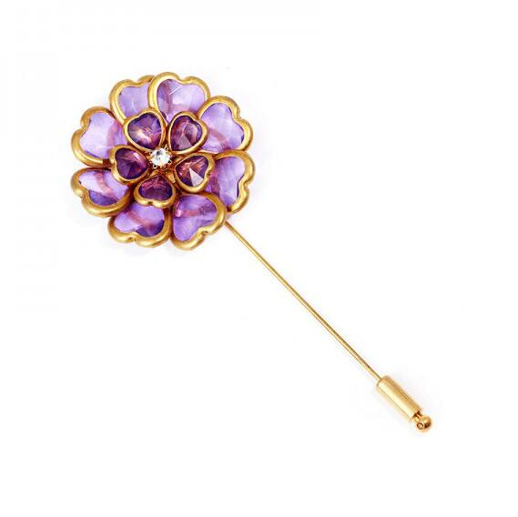 The New Long Metal Needle Trendy Brooch Flower Word Pin Sweater Coat Suit Pin Shawl Buckle Accessories