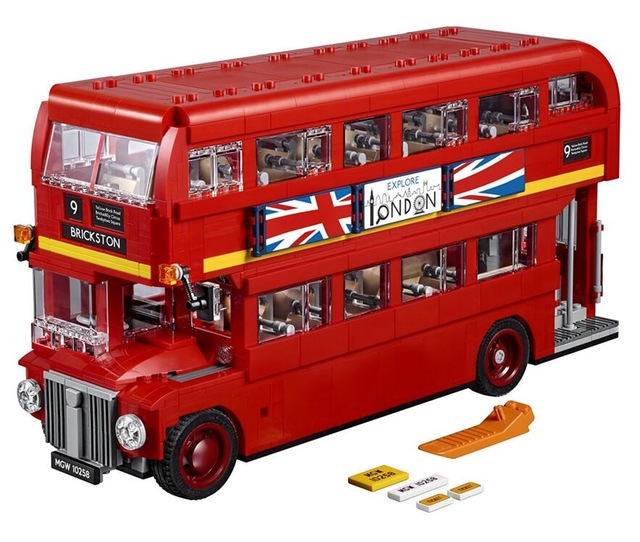 Genuine The London Bus Set Building Blocks Bricks Educational Toys Model Gifts Compatible with Legoings 10258