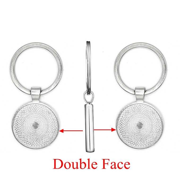 5 ชิ้น/ล็อต DIY พวงกุญแจจี้ Fit 25 มม.แก้ว Cabochon โดม Handmade Blank Key Chain Keyring Keyfob ฐานเครื่องประดับทำอุปกรณ์
