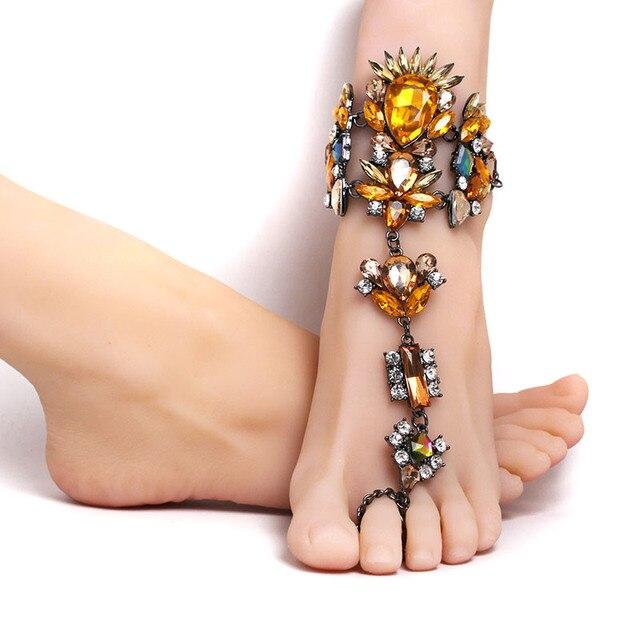 Fashion 2017 Ankle Bracelet Wedding Barefoot Sandals Beach Foot ... 80140b59f8aa